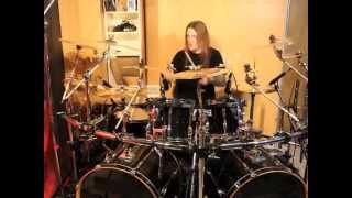 Drum cover of Father Time by Stratovarius. NO drum replacement was ...