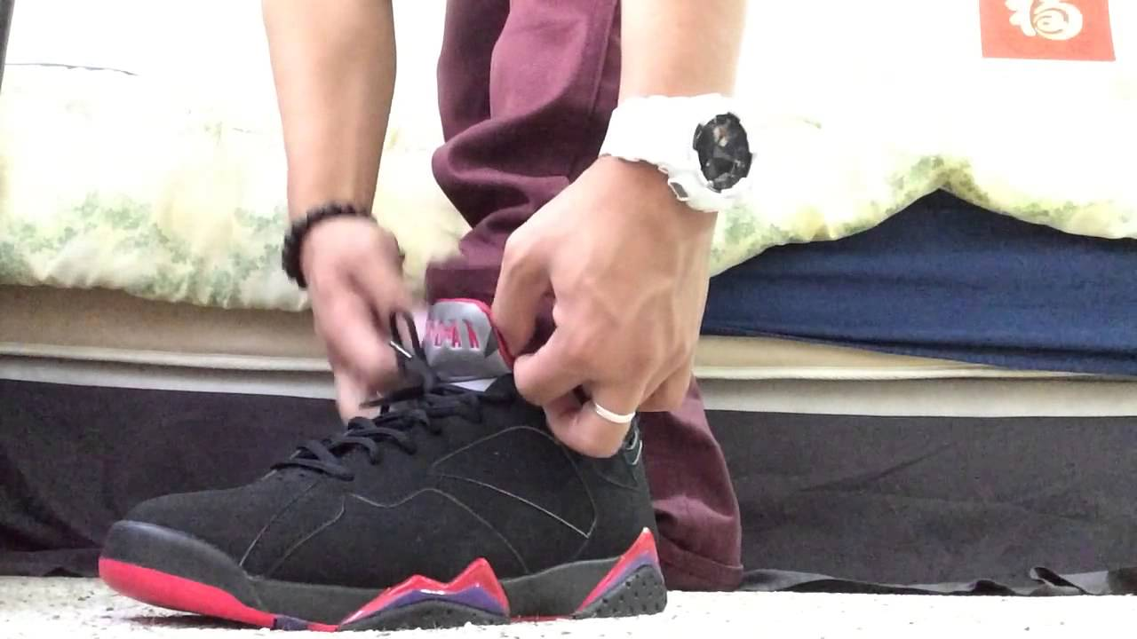 separation shoes 3952e c4e12 How I lace my Jordan 7 (Raptor 7s)