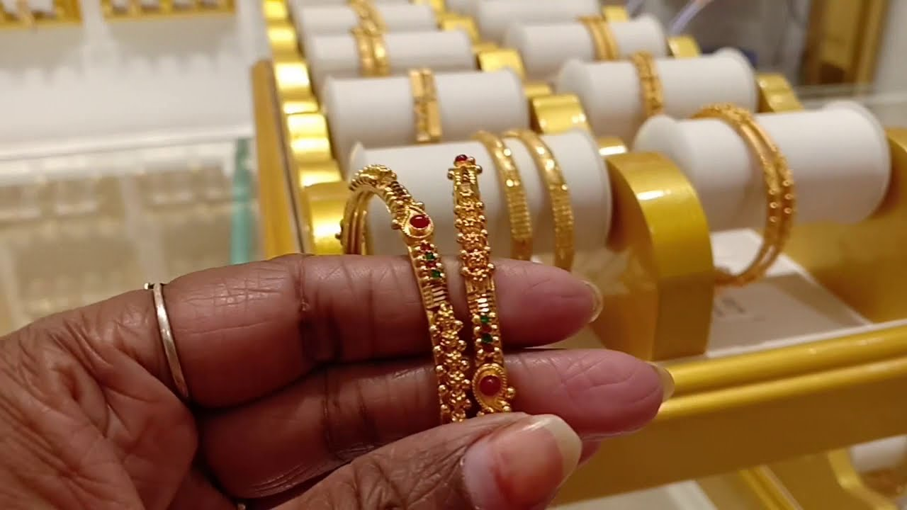 c532396155448 Padi Saravana Stores Gold jewellery |Long Haram collection | Fancy Bangles