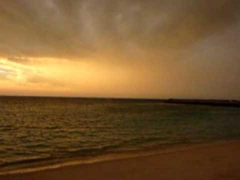 日本最南端の夕焼けと虹