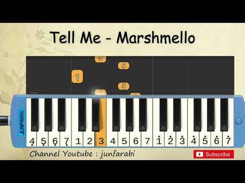 not pianika tell me - marshmello - melodica easy