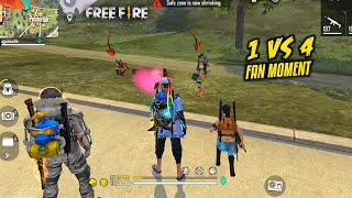 Fan try to Kill Me Solo vs Squad OverPower Gameplay - Garena Free Fire