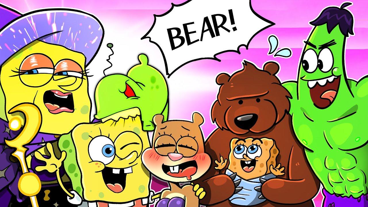 Download I Wanna Live❗Hulk X Bear X Spongebob! Animation 💚🐻 Poor Baby Spongebob Life Compilation   SLIME CAT