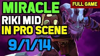 OMG! Miracle spamming Riki Mid even in Pro Matches - Epicenter Major