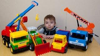 Распаковка Спецтехники, автокран, мусоровоз, самосвал, трактор, crane, tractor.