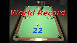 World Record Pool Shot 2014 - 22 & 24 Balls In One Shot!