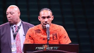 KEITH THURMAN REACTS & SPEAKS ON SPLIT DECISION LOSS TO MANNY PACQUIAO