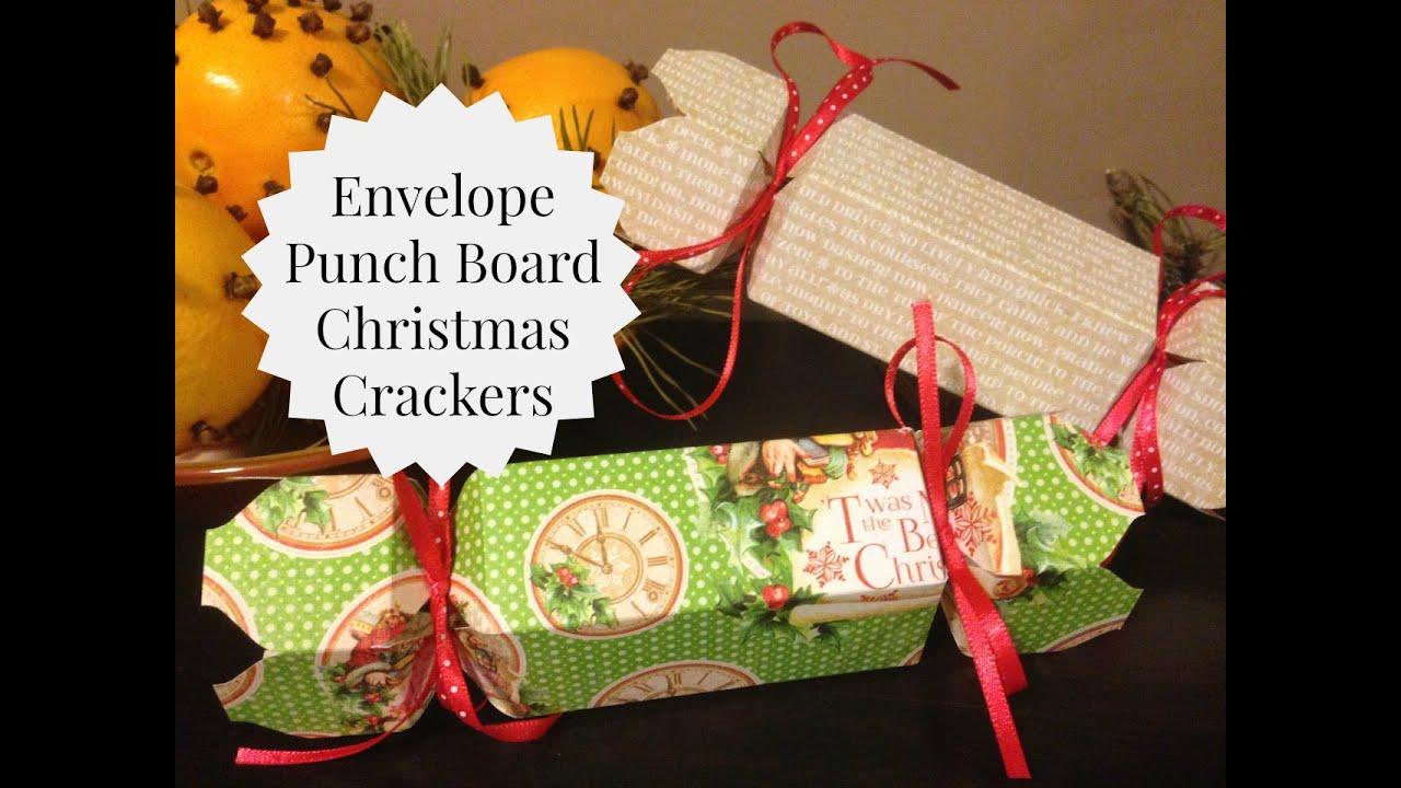 Diy Christmas Crackers Using The Wrmk Envelope Punch Board
