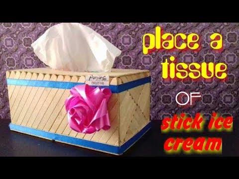 Cara Membuat Tempat Tisu Dari Stik Es Krim - YouTube fd6b2203a6