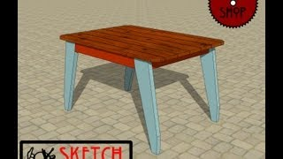 Chief's Shop Sketch Of The Day: Patio Dining Table