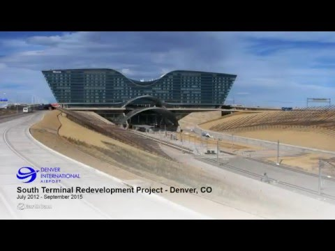 Denver International Airport Construction Time-Lapse