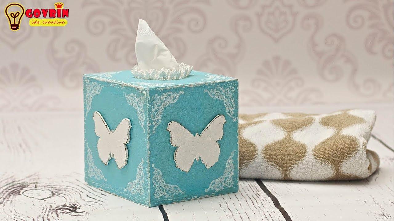 Cara Membuat Kotak Tisu Dari Kardus Bekas Ide Kreatif