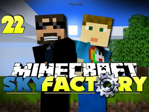 Minecraft Modded SkyFactory 22 - MINING LASER COMPETITION!