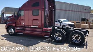 Heavy Duty 2007 Kenworth T2000  | Semi Trucks Available at MHC Kenworth - Quad Cities