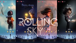 Rolling Sky 2 All levels | Home, Starry Dream, Pharaohs & Fate | Hands reveal