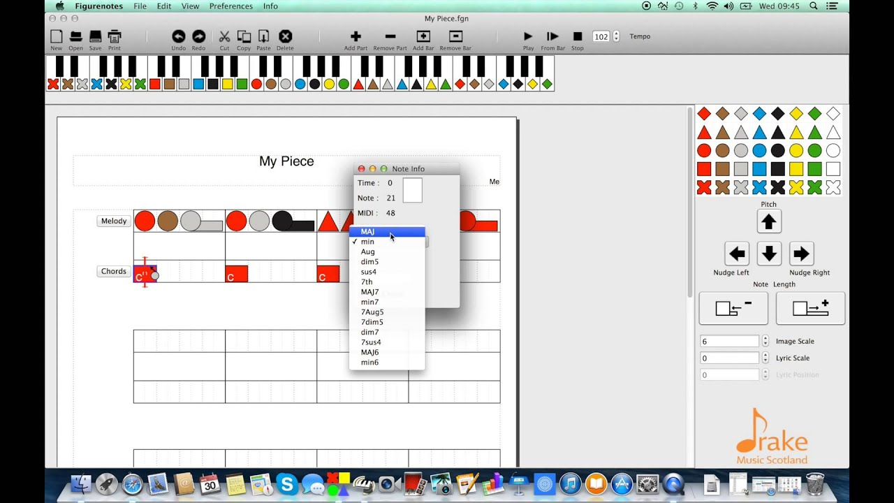 Figurenotes Software Chords And Note Names Youtube