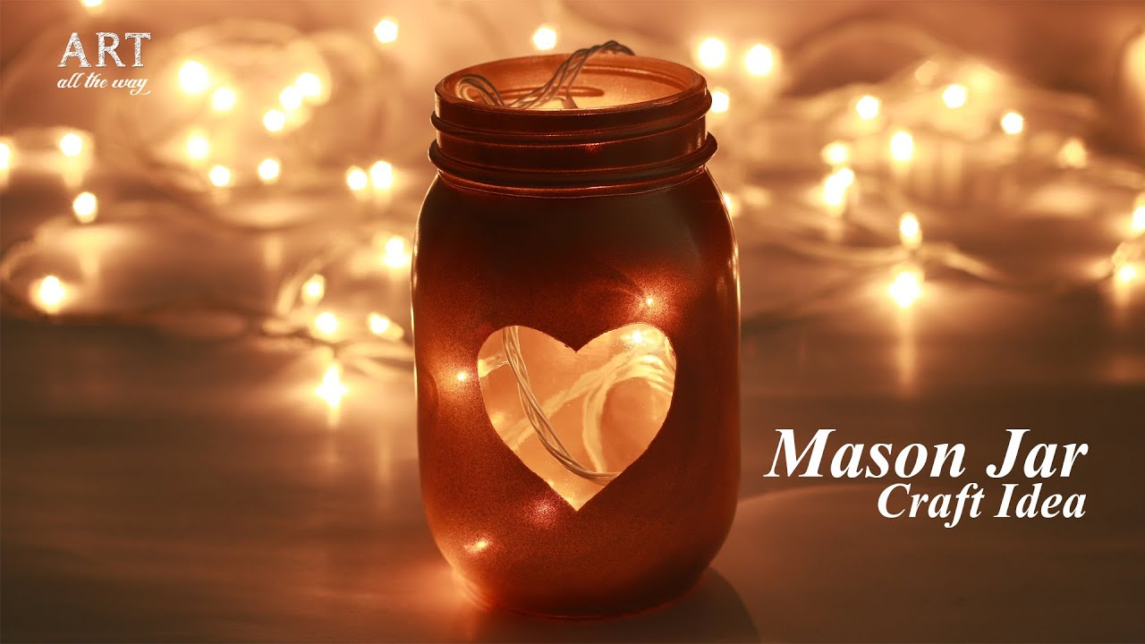 Mason Jar Decor Craft Ideas Home Decor Diy Youtube