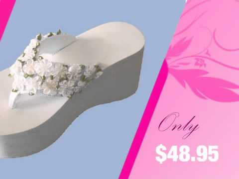 87c5d4944da309 ... White Bridal Flip Flops - Wedding Flip Flops Decorated in Custom Color  Flowers - YouTube clearance ...