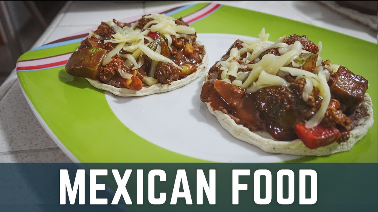 Mexican Food - DELICIOUS HOMEMADE SOPES! - Mexico Vlog Day ...
