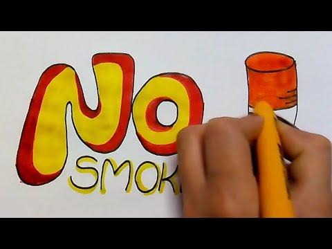 no smoking day poster drawing