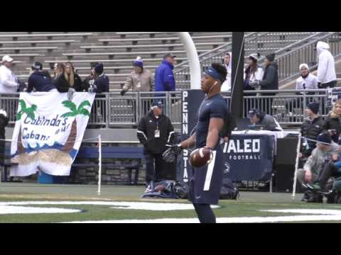Penn State pregame: See Saquon Barkley's dance moves and acrobatic catches