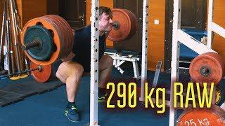 Присед 290 кг RAW