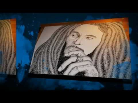 Bob Marley Artwork for Sale - Worded Ink Drawing