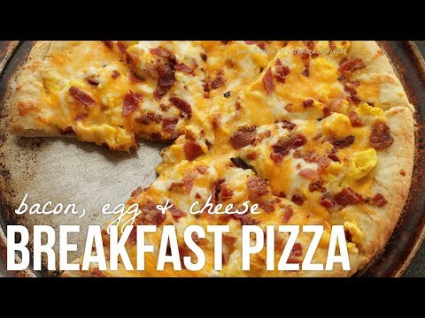 Making Cheese Breakfast Pizza