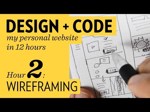 Design + Code – Hour  2: Wireframing