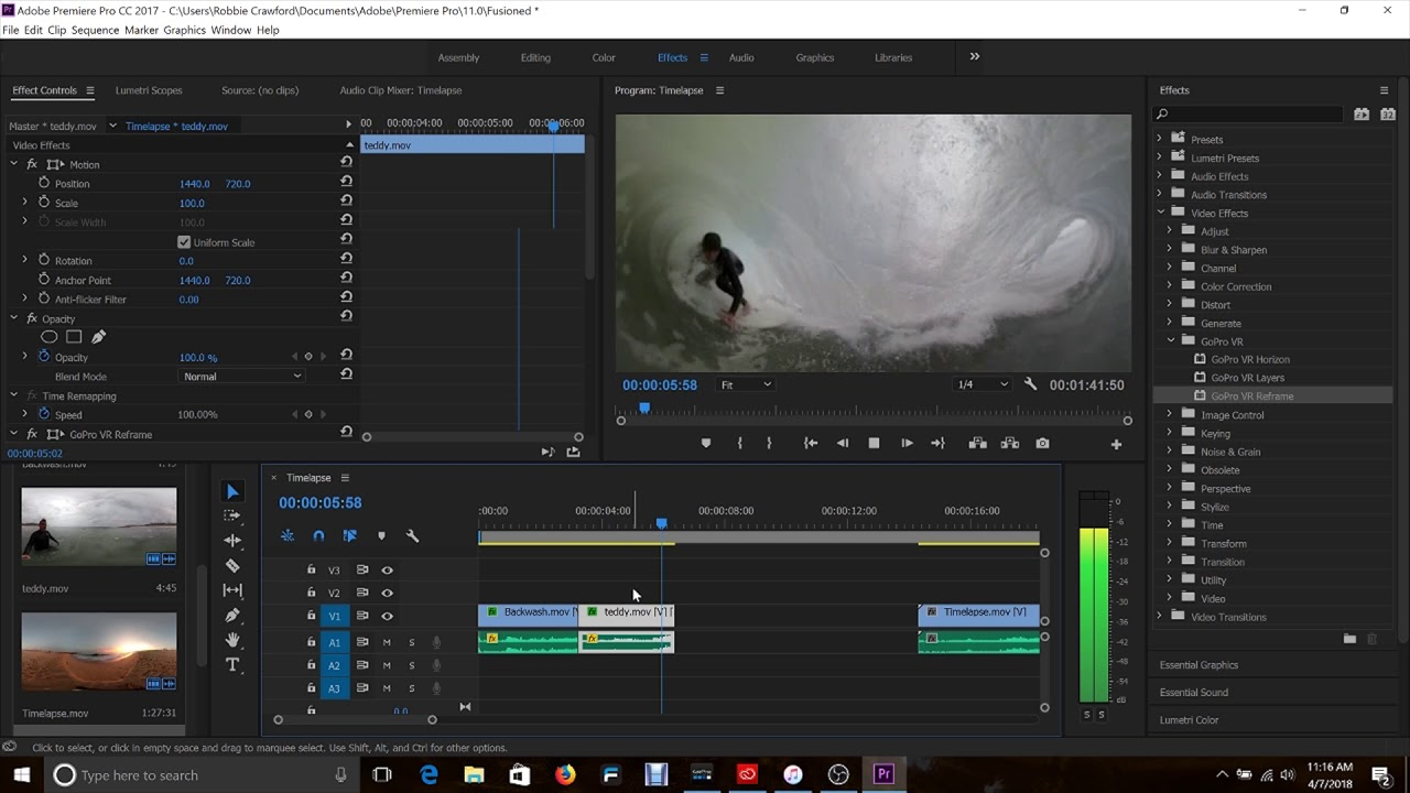 GoPro Fusion Studio App: How to use the Adobe Plugins for