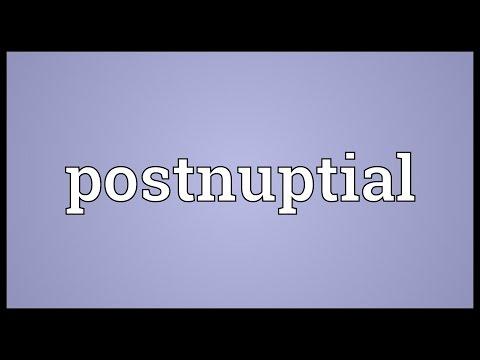 Header of postnuptial