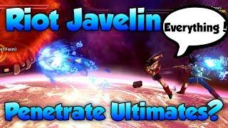 Can Riot Javelin Penetrate Ultimates? - Dragon Ball Xenoverse 2