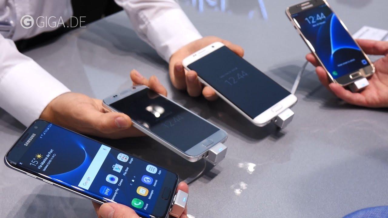 Samsung Galaxy S7 (edge) Farben: Schwarz, Wei, Gold und ...