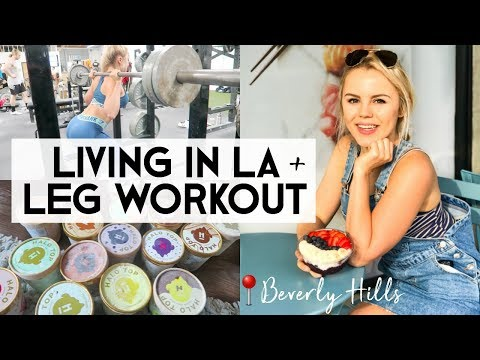 BOOTY Barbell Brigade Workout & Beverly Hills | LA VLOG
