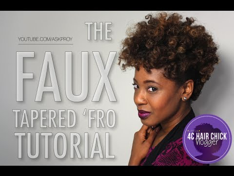 faux tapered 'fro cut tutorial