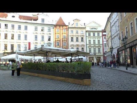 Walk around  Prague Czech Republic Old Town