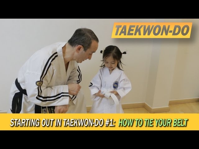 Starting out in Taekwon-Do #1: How to tie your belt