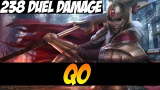 qo plays legion commander with 238 of dmg duel dota 2
