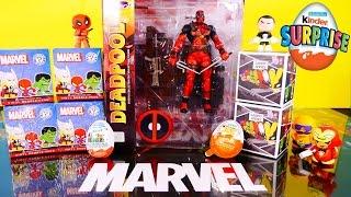Kinder Joy Surprise Eggs NEW Deadpool Action Figure Marvel Mystery Minis Toys - Disney Cars Toy Club