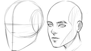 How to Draw Human Head 3/4 View