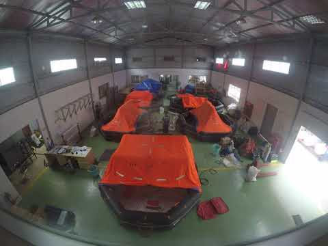 Liferaft annual inspection at PHANTA service station