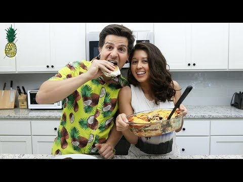 Vegan Dollar Store Recipe Challenge | Enchiladas & Crunchwrap | Chris vs. Jasmine