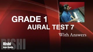 Grade 1 - Practice Aural Test 7 with Answer for Trinity Exam