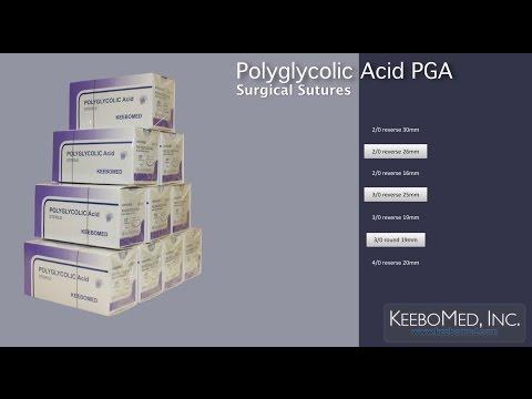 Polyglycolic Acid PGA Surgical Sutures