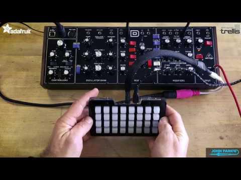 John Park's Classic MIDI Synth Control with Trellis M4 @adafruit  @johnedgarpark #adafruit