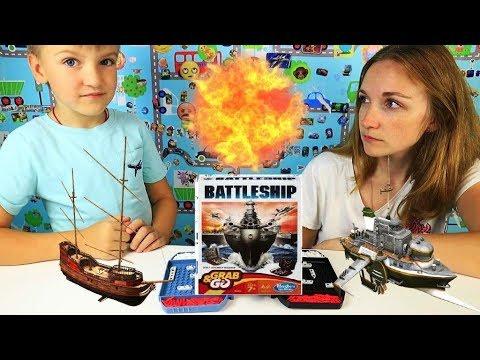 ⛵ Морской бой Hasbro мини версия/Настольная игра