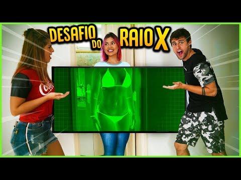 TESTEI O RAIO X COM AS MENINAS DA CASA!! ( MINI GAME NOVO ) [ REZENDE EVIL ]