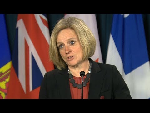 "Premier Notley says Canada and Alberta plan to ""eliminate"" risk in pipeline project"