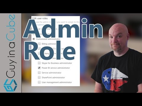 Looking at the Power BI Admin Role