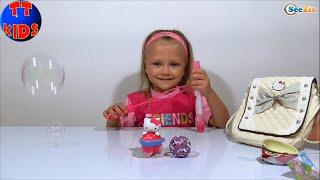 ✔ Хелло Китти Сумка с Игрушками и Мыльными Пузырями Hello Kitty Unboxing toys - Серия 20 ✔